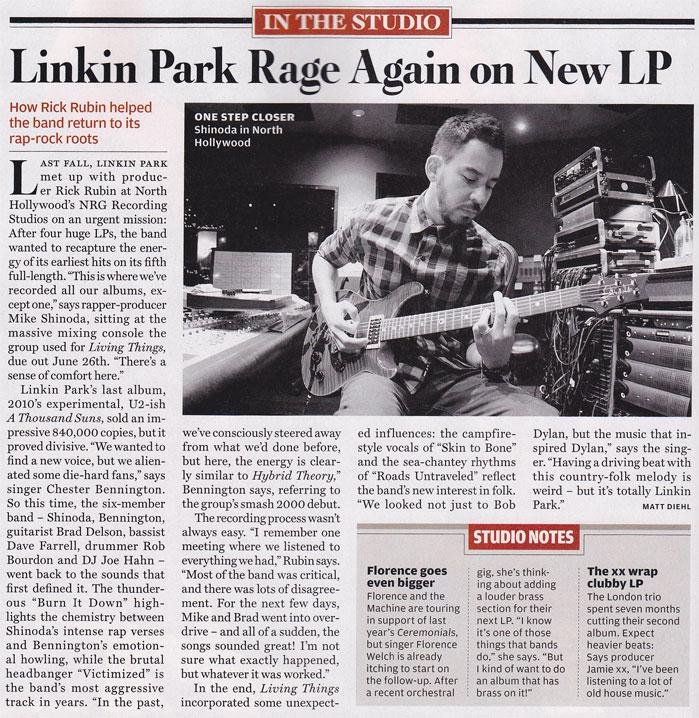 Linkin Park Rolling Stone